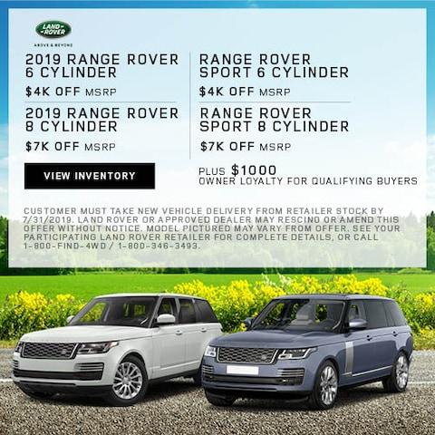 2019 Range Rover - MSRP