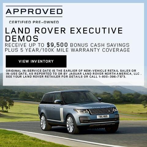 Land Rover Executive Demos