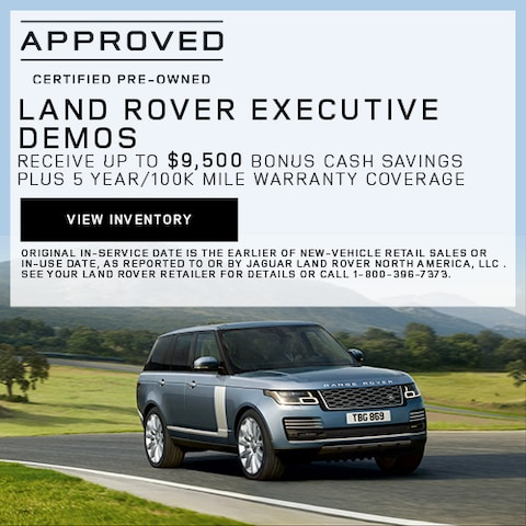 Land Rover Executive Demos