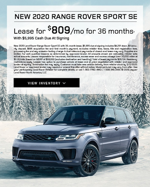 2020 Range Rover Sport Lease Specials