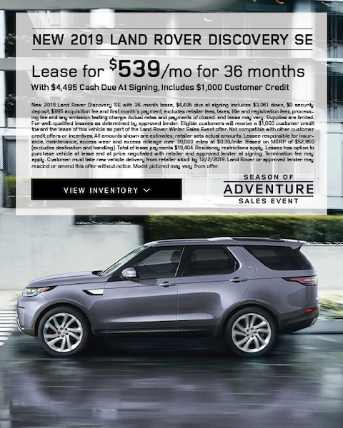 2019 Land rover Discovery SE Lease Special