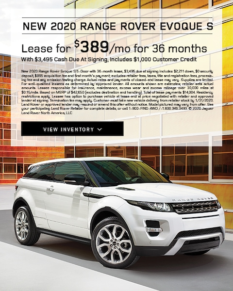 2020 Range Rover Evoque S Lease Special