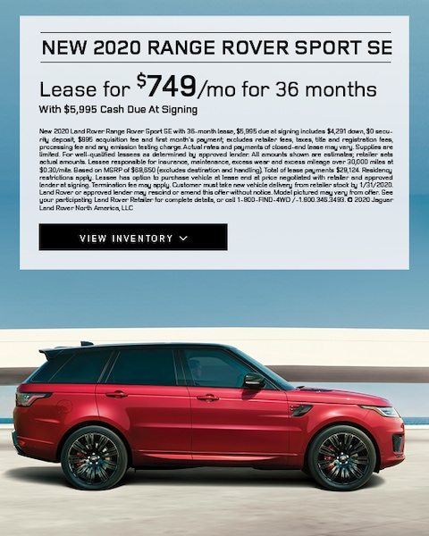2020 Range Rover Sport SE Lease Special