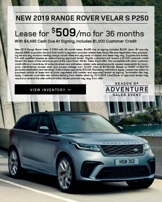 2019 Range Rover Velar S Lease Special