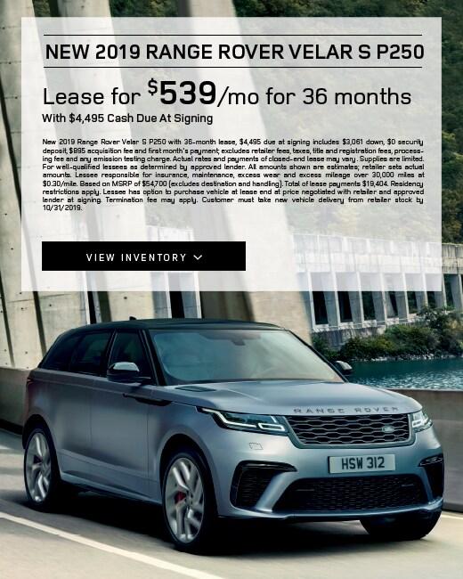2019 Range Rover Velar Lease Special