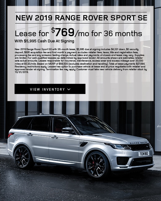 2019 Range Rover Sport Lease Special