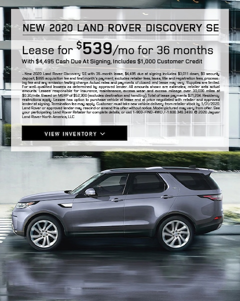 2020 Land Rover Discovery Lease Special