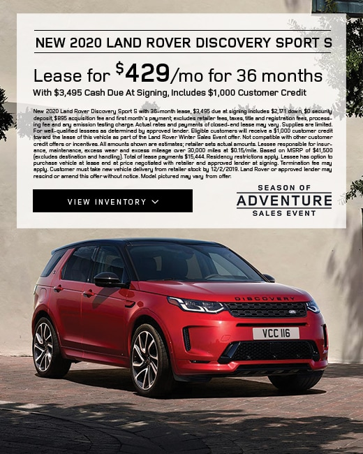 2020 Land Rover Discovery Sport S Lease Special