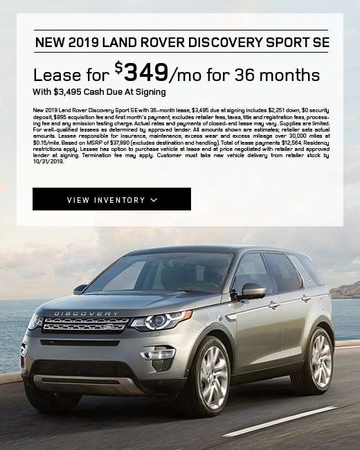 2019 Land Rover Discovery Lease Special