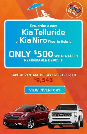 Pre-order a new Telluride or Niro Pulg-In Hybrid