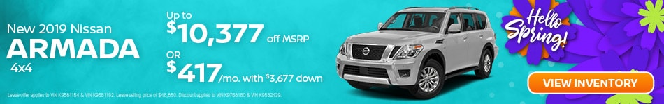 April | New 2019 Nissan Armada 4x4