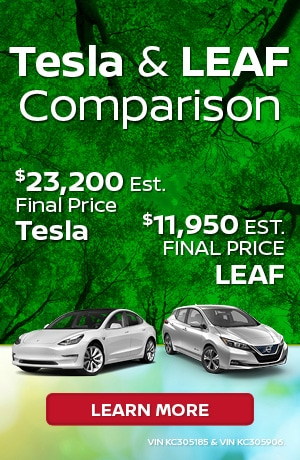 New 2019 Nissan Leaf vs. Tesla
