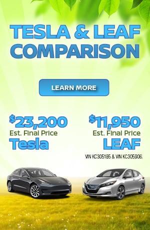 New 2019 Nissan Leaf vs. Tesla