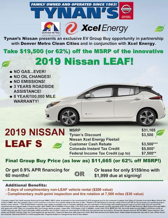New Nissan Leaf For Salelease Tynans Nissan Aurora