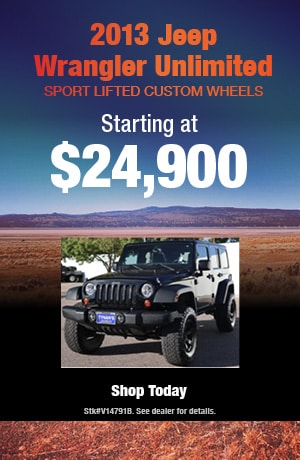 2013 Jeep Wrangler Unlimited Sport Lifted Custom Wheels