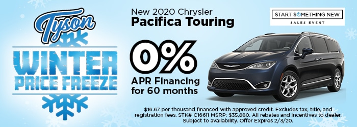 0% APR - 2020 Chrysler Pacifica Touring