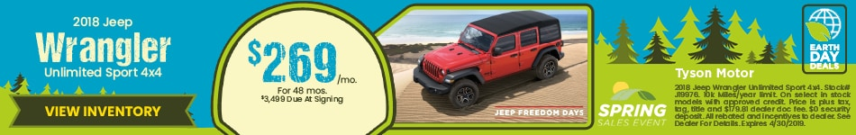 18 Jeep Wrangler April
