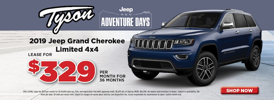 Lease For $329/mo - 2019 Jeep Grand Cherokee Limited 4x4