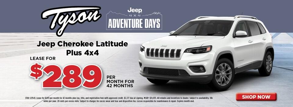 Lease For $289/mo - Jeep Cherokee Latitude Plus 4x4