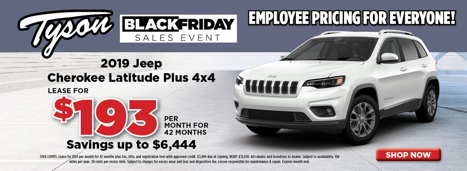 2019 Jeep Cherokee Lease Offer