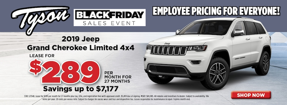 2019 Jeep Grand Cherokee Lease Offer