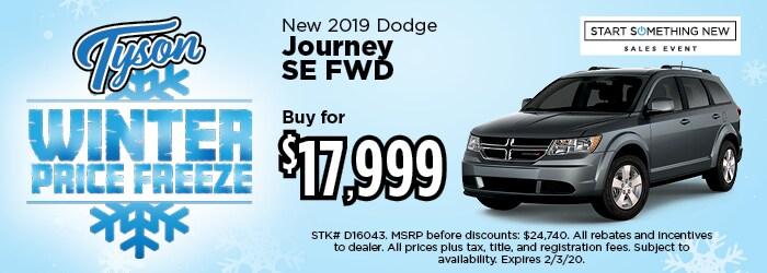 Buy for $17,999 - 2019 Dodge Journey SE FWD