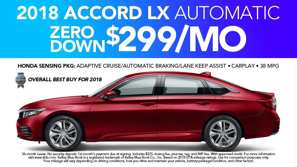New 2018 Honda Accord in Anderson, SC