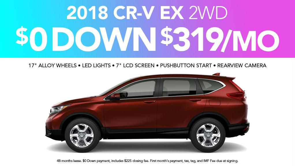 2018 honda cr v east coast honda dealer south carolina for Honda dealership myrtle beach sc