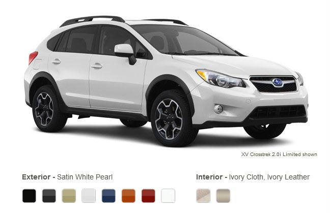 Twin City Subaru >> 2013 Subaru XV Crosstrek Exterior Colors and Interior Options