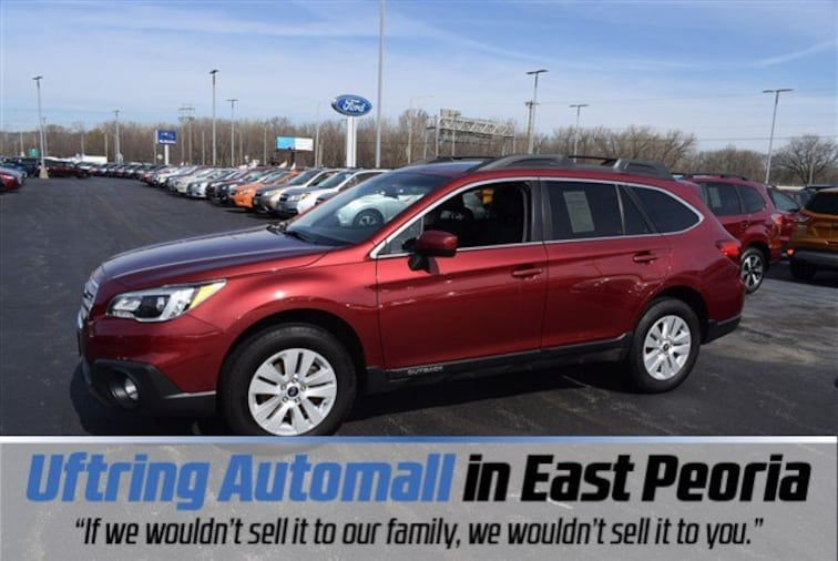 Certified 2016 Subaru Outback 2.5i Premium SUV for sale in East Peoria, IL at Uftring Subaru