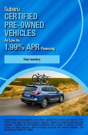 Subaru Certified Pre-Owned Vehicles