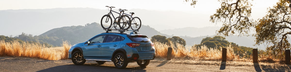 New Subaru Crosstrek Hybrid with bikes
