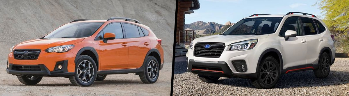 2020 Subaru Crosstrek vs 2020 Subaru Forester