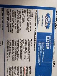 2019 Ford Edge Titanium AWD 4dr Crossover SUV