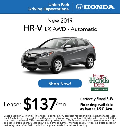 New 2019 HR-V LX AWD