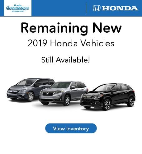 Remaining 2019 Model Specials