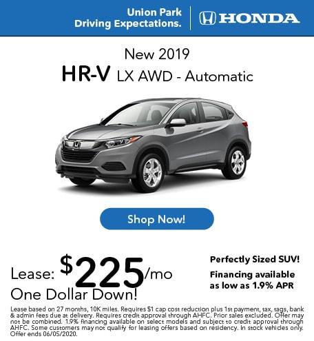New 2019 HR-V LX AWD - Automatic