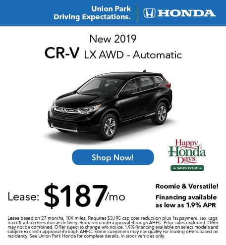 New 2019 CR-V LX AWD