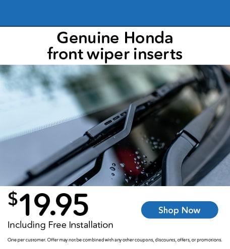 Genuine Honda Front Wiper Inserts