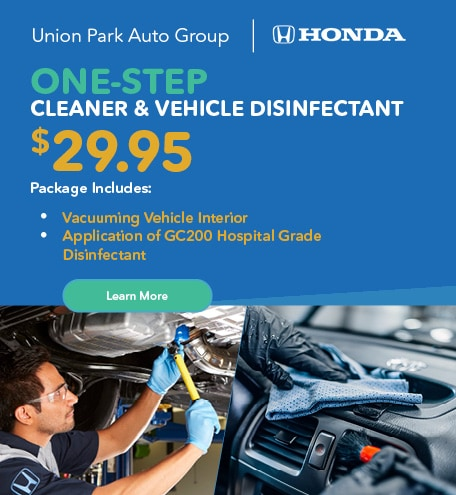 Union Park Auto Group One-Step Cleaner & Vehicle Disinfectant