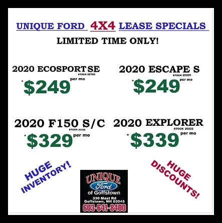 Unique Ford 4x4 Lease Specials