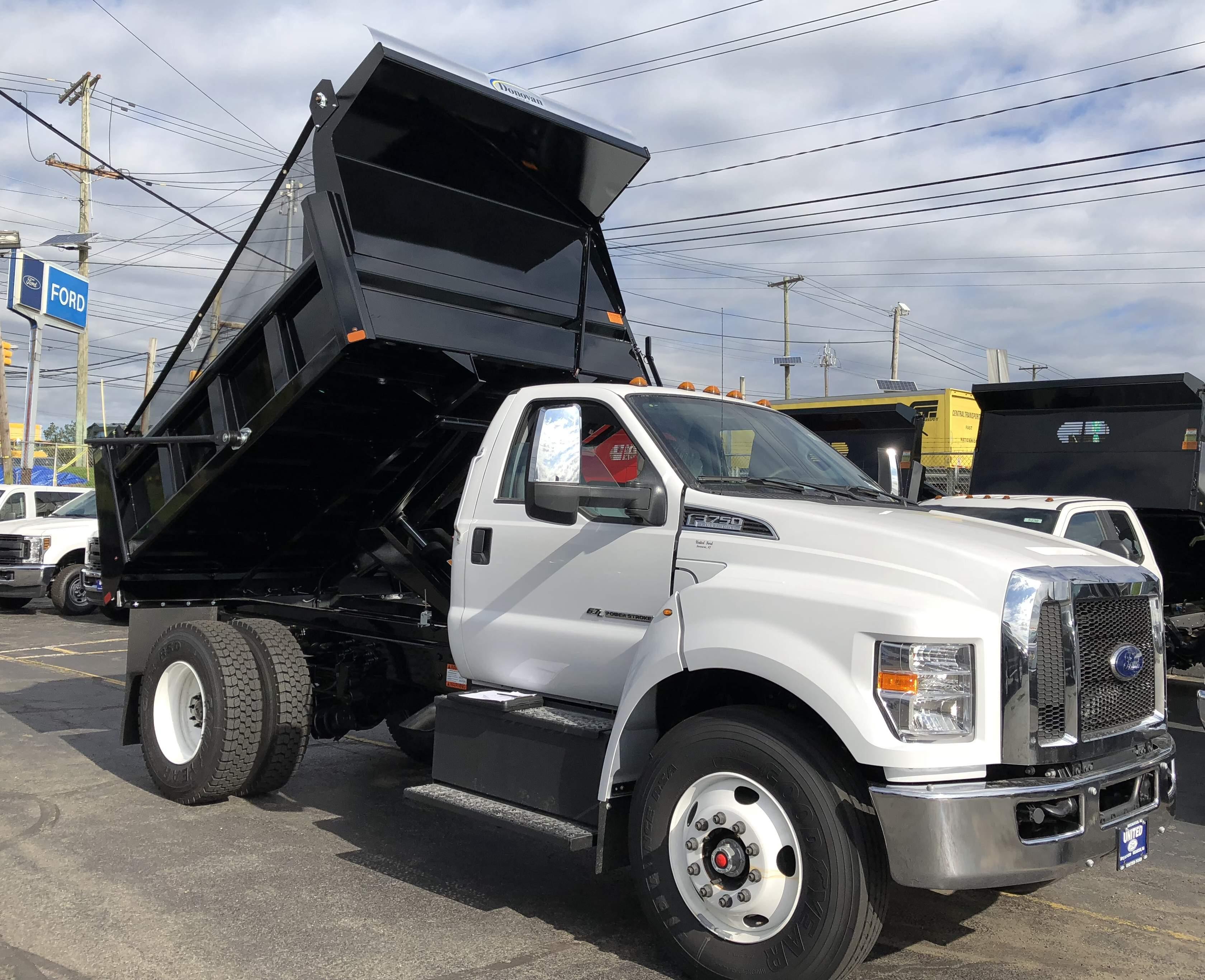2019 Ford F-650-750 F-750 SD Diesel Straight Frame Dump Truck