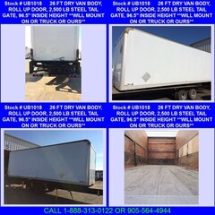 2007 Durabody 26 FT DRY VAN BODY 2500 LB TAIL GATE
