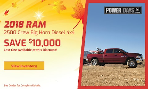 September 2018 Ram 2500 Crew Big Horn Diesel 4x4
