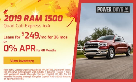 September 2019 Ram 1500 Quad Cab Express 4x4