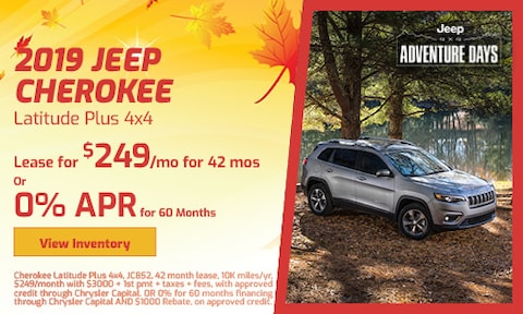 September 2019 Jeep Cherokee Latitude Plus 4x4