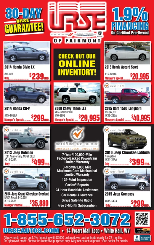 Urse Dodge Chrysler Jeep Ram | New Chrysler, Dodge, Jeep, Ram ...