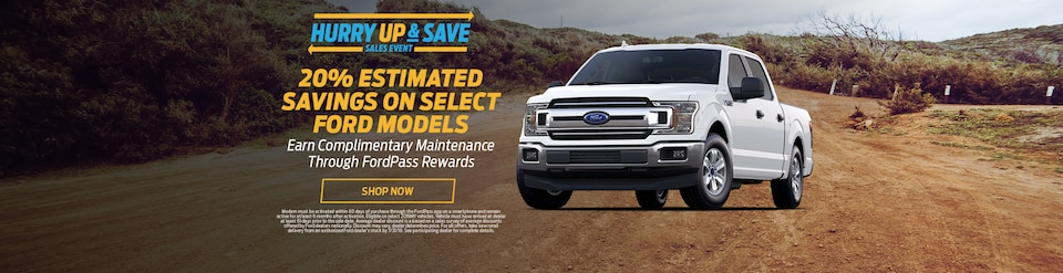 20% Estimated Savings on Select Ford Models