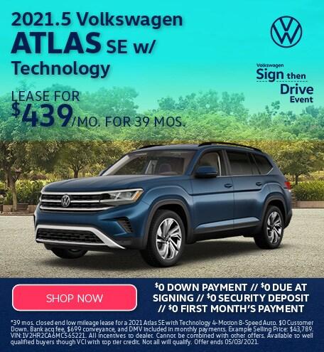 2021.5 Volkswagen Atlas SE w/ Technology