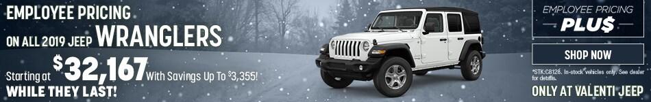 2019 Jeep Wrangler December Offer